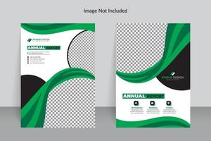 Business Annual Report Template with Green Details
