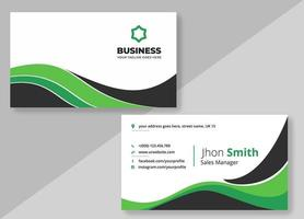 Clean Curves Creative Business Card Template  vector