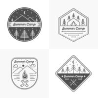ensemble de logo de camp d'été