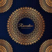 Ramadan gold mandala graphic element  for Islamic holiday