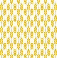 modèle sans couture d'épis de blé jaune vecteur