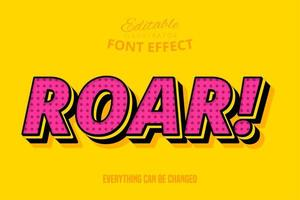 Roar Text, Editable Font Effect vector