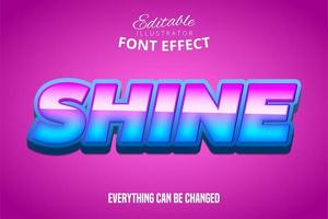 Shine Text, Editable Font Effect
