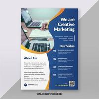 Blue Clean Business Flyer Brochure Template