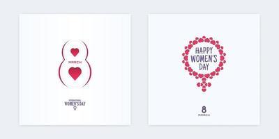 8 de marzo corte de papel banner día de la mujer marco en forma de corazón