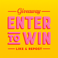 Retro Enter To Win Social Media Post