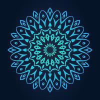 padrão de laço redondo decorativo gradiente azul