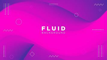Purple Gradient Fluid Curved Background