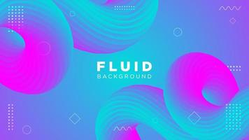 Colorful Fluid Curved Background