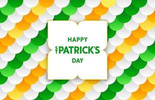 Festive St. Patrick's vivid background with semi-flat pattern vector