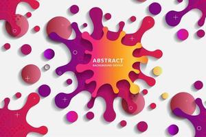 Colorful Splatter Shape Design vector