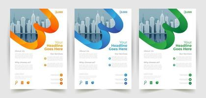 Business Flyer Template with Rounded Shape Details