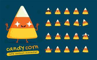 Candy Corn Character Set vector