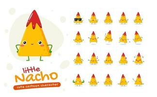 conjunto de caracteres da mascote nacho vetor