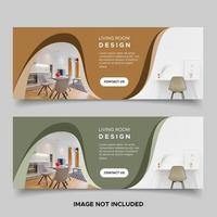 Wavy banner design templates vector