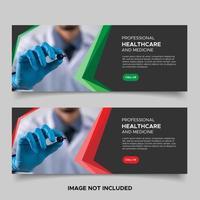modèles de bannière de promo de soins de santé vecteur