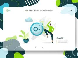 Clean Air Landing Page vector