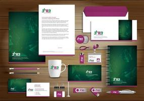 Green Geometric Shape Identity Set and Promotional Items