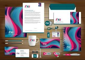 Bright Curved Shape Identity Set and Promotional Items