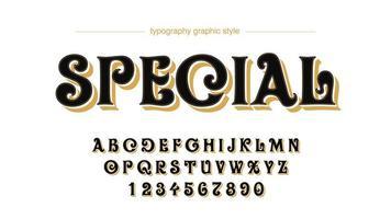 tipografía de remolino retro redondeado vector