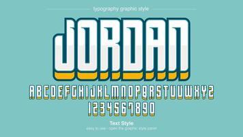 tipografia urbana bianca rialzata moderna