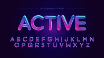 Colorful Vibrant Neon Rounded Typography vector