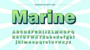 Green Bold 3D Cartoon Typography vector