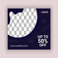 Black Fluid Shape Fashion Social Media Design Template vector