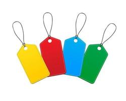 Colorful Sale Tags or Labels vector