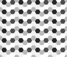 Monochrome Hexagon Geometric Seamless vector