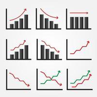 conjunto de iconos gráficos con flechas