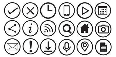 set van web iconen