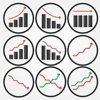 conjunto de iconos gráficos circulares