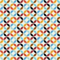 Geometric Retro Circle Pattern Background