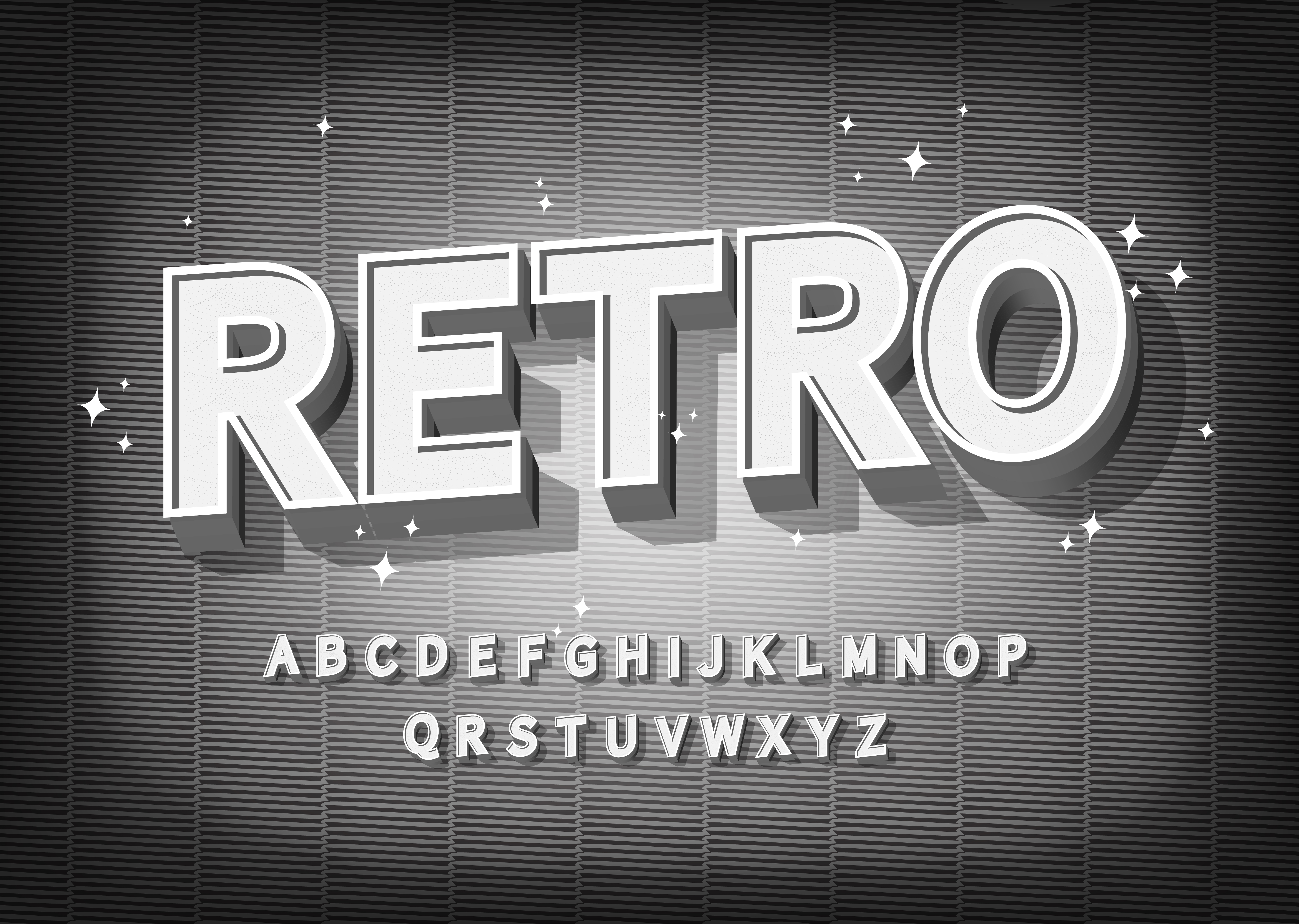 Retro Font Effect Old Cinema Styled Alphabet Download Free Vectors Clipart Graphics Vector Art