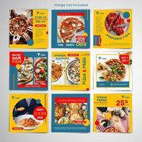 modèle de publication de médias sociaux de pizza