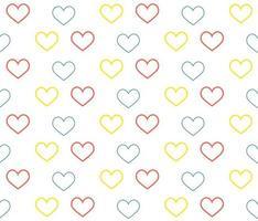 Seamless Heart Outline Pattern vector