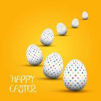 Easter Background with Polka Dot Eggs