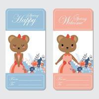 osos para tarjeta de primavera