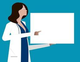 femme médecin donnant des conseils vecteur
