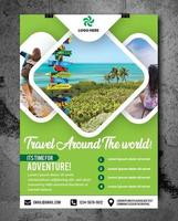 Travel Flyer with space for photos vector
