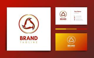 Ball Flame Logo and Business Card Template vector
