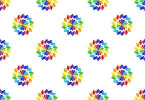 patrón de flor de papel del arco iris vector