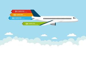 Airplane flying banner infographic