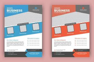 Modern Conference Flyer Template Set vector