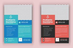 panfleto de saúde de cuidados dentários médicos vetor