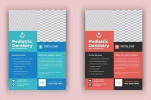 Medical dental care health flyer vector