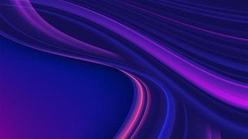 Curvy gradient streak background in purple color vector