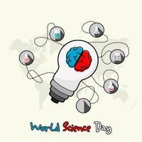 cartel del día mundial de la ciencia vector