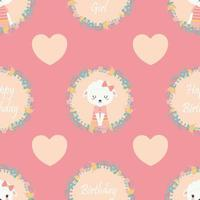 Sheep And Heart Shape On Pink Pattern